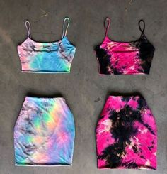 Set It Off in Tie Dye (Double Layered)🍭— Left or Right? Cute Lazy Outfits, Cute Swag Outfits, Crop Top Outfits, Pretty Outfits, Stylish Outfits, Girls Fashion Clothes, Teen Fashion Outfits, Mode Adidas, Tie Dye Fashion