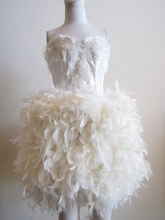 pretty feather dress