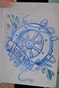 Homeward - rudder tattoo design