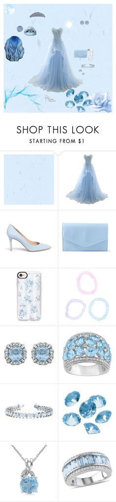 """pastel blue princess"" by icyraindancer on Polyvore featuring Gianvito Rossi, Steve Madden, Casetify, Hot Topic, Ice, Allurez, Blue La Rue, Miadora and Chaumet"