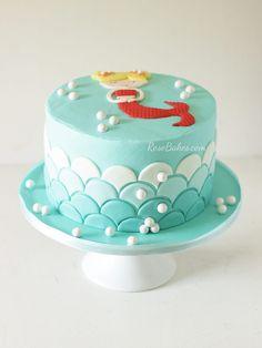 Mermaid cake by Erin sweetnsaucyshop Cake Art Pinterest