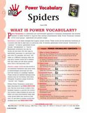 FREE 16-Page Downloadable Vocabulary Packet for Kids Discover Spiders!