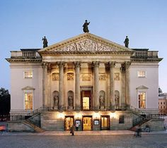 Staatsoper Unter den Linden   -  Berlin, Germany  -  The richly ornamented State Opera House is one of Germany's most attractive  -   1741–1743  -  Neo-Classical architecture in classic Prussian style ment to resemble a Corinthian temple  -   Europe's first free-standing opera house  -  plans devised by Frederick the Great