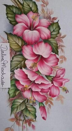 Awesome Most Popular Embroidery Patterns Ideas. Most Popular Embroidery Patterns Ideas. China Painting, Tole Painting, Fabric Painting, Painting & Drawing, Painting Walls, Art Floral, Embroidery Patterns, Hand Embroidery, Fabric Paint Designs