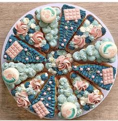 Cute Desserts, Wedding Desserts, Cake Decorating Techniques, Cake Decorating Tips, Beautiful Cakes, Amazing Cakes, Latest Cake Design, Cake Inspiration, Pizza Cake