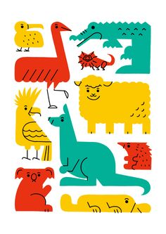 Animals 01 by Shunsuke Satake, via Behance