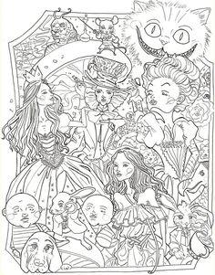 Alice In Wonderland Disney Coloring PagesAnimal