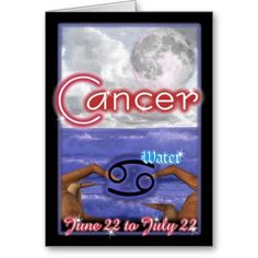 Cancer Zodiac birthday card