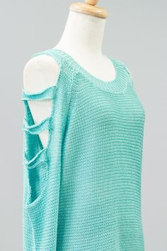 Kiki Closet Ladder Sleeve Knit Sweater