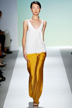 Tibi, goldenrod billowy silk dress pant. Casual or dressy its sexy and chic.