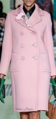 Fashion Accessories | Furs & Coats | Color Desire Pink || Rosamaria G Frangini || Regilla ⚜ Prada, FW 2015/16