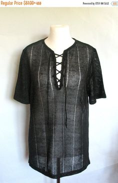 Mens Black Linen Shirt Top Sweater Clothing Natural by Initasworks Homens 6efa5d4b18a