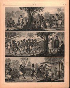 Booro Philippines Marian Caroline Islands Antique Print 1857