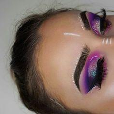 Rave Makeup, Makeup On Fleek, Glam Makeup, Skin Makeup, Makeup Inspo, Eyeshadow Makeup, Makeup Art, Fairy Makeup, Mermaid Makeup