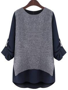 f0a855e5287 XXXXXL Plus Size Women Clothes 2015 Autumn 2016 Spring European and  American Style Fashion Long Sleeve Fake Two Piece Shirt Tops