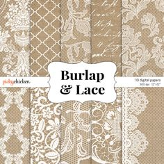 Lace Border Rustic Wedding Invitation Frame Clipart