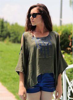Bayan Bluz Şilebezi Yeşil   Modelleri ve Uygun Fiyat Avantajıyla   Modabenle