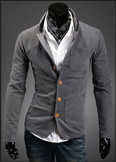spring autumn men's stand collar suit small color matching casual men blazer jacket