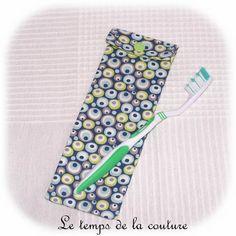 Lingettes en micro ponge de bambou x10 ecologique - Brosse a dent bleu blanc rouge ...