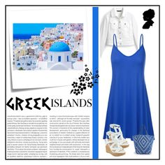 """Greek get away"" by pink-roosje ❤ liked on Polyvore featuring White House Black Market, Oris, Post-It, Packandgo and greekislands"