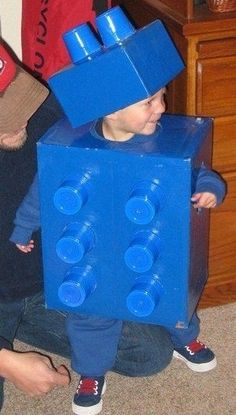 Five Easy Halloween Costumes for Your Kids- All three of my kids may be a different color lego!