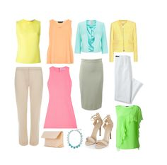 July's Capsule Wardrobe For Tinted Spring (Light Spring)