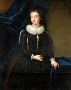 Portrait of a Female Member of the St John Family (thought to be Angelica Magdalena Wharton, née Pelissary, second wife of the Viscount St John, by Enoch Seeman the younger European Costumes, Mourning Dress, 18th Century Fashion, 17th Century, Rococo Fashion, Art Uk, The St, Shades Of Black, Les Oeuvres