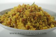 Poha With Mixed Sprouts. I am substituting with quinoia