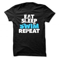 Eat, Sleep, Swim, Repeat Guys Tee T-Shirts and Hoodies