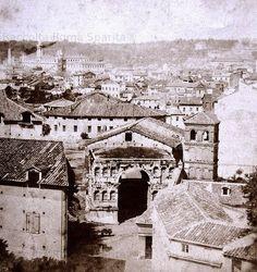 Arco di Giano e Chiesa di San Giorgio al Velabro Anno: 1865 'ca