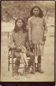 Apache prisoners by Buehman and Hartwell, Tucson, Ariz. Territory; 1880s.  Need to find out more about this story.
