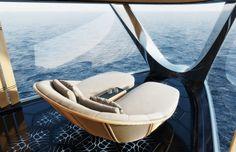 AQUA - 112m Yacht powered by Hydrogen Fuel Cells | Sinot Bill Gates, Super Yachts, Pem Fuel Cell, Aqua Rooms, Yamaha Engines, Monaco Yacht Show, Hydrogen Fuel, Lower Deck, Naval