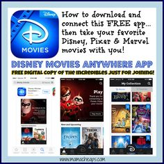 disney movies anywhere app how to