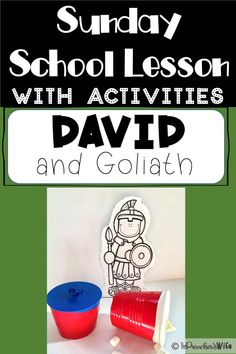David and Goliath: A Sunday School Lesson Sunday School Curriculum, Sunday School Kids, Sunday School Activities, Church Activities, Sunday School Lessons, Sunday School Crafts, Youth Activities, Kids Church Lessons, Bible Lessons For Kids