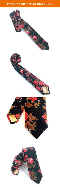 Floral Necktie with Black Background and Red Flowers, Man Tie, Mens Necktie, Floral Tie, Flower Tie, Mens Tie, Wedding Necktie. Floral Man Necktie with Black Background and Red Flowers, Man Tie, Man Necktie Measurements: - Max width: 6 cm / 2,36 inches - Min width: 3 cm / 1,18 inches - Length: 154 cm / 60 inches Other details: - Handmade from quality fabric cut on the bias - Durable construction - Material: Cotton - Color: Black with red flowers and decorative golden tipping - Comes…