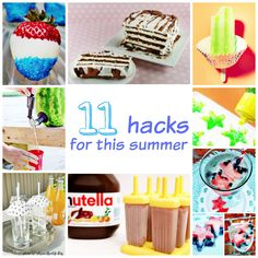 These Summer Food hacks are great! 11 hacks (like the one to use cupcake liners upside-down to keep bugs out of drinks. Genius!) I love #2 and #7!