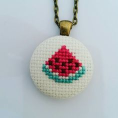 New embroidered necklaces!