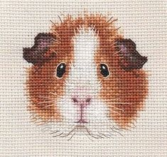 TAN GUINEA PIG ~ Complete counted cross stitch kit * Exclusive Design