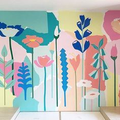 As well as hand painted murals, I offer a more affordable option in custom made wallpaper designs like this one recently commissioned by @littlelibertyrooms for @bucketselc childcare centre. My pre school days were the bomb and I love the idea little kiddies get to enjoy my art everyday. Get in touch if you would like to commission a design