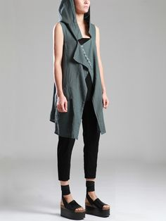 COTTON-CUPRO VEST - JACKETS, JUMPSUITS, DRESSES, TROUSERS, SKIRTS, JERSEY, KNITWEAR, ACCESORIES - Woman -