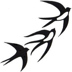 Bird #Silhouette #Tattoo #Design #www.facebook.com/… # #tattoo # #birds # #tattoodesign