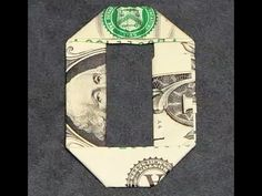 No. Zero Dollar Bill Origami, money gift idea, crafting a number 0, # 10/10 - YouTube
