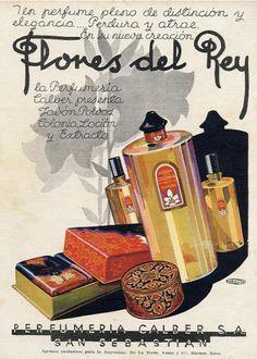 Advertisement of Perfumery Calber of San Sebastián. (Art deco)