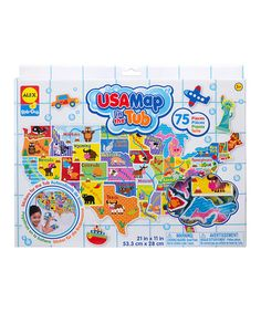 Look what I found on #zulily! USA Map in the Tub Set #zulilyfinds