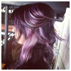 Lavender highlights. This is a must when those greys really start to come in.   I love this.