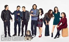 Gilmore Girls: Exclusive Photos of the Stars Hollow Crew Gilmore Girls Cast, Gilmore Gilrs, Lorelai Gilmore, Mark Sheppard, Stars Hollow, Jared Padalecki, Sam Winchester, Misha Collins, Jensen Ackles