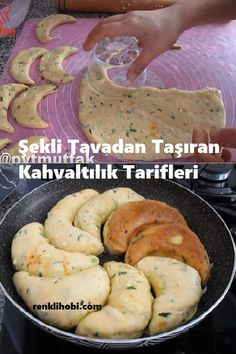 Breakfast Recipes Carrying the Shape from the Pan - # Kahvaltılıktarif on easy, fast and practical breakfast recipe # Kahvaltılıktarif on easy - Breakfast Tea, Breakfast Recipes, Easy Chicken Dinner Recipes, Easy Meals, Iran Food, Bread Shaping, Easy Recipes For Beginners, Sweet And Salty, Food Preparation