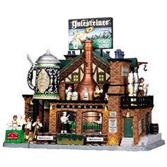 Every good village needs a brewery.  Check out this Lemax Village Collection Yulesteiner Brewery.  #ChristmasDecor #ChristmasVillage