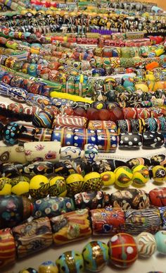 Antique Venetian beads from the African trade circa late early African Trade Beads, African Jewelry, Ethnic Jewelry, Jewelry Art, Beaded Jewelry, Jewellery, Beaded Necklaces, Clay Beads, Lampwork Beads