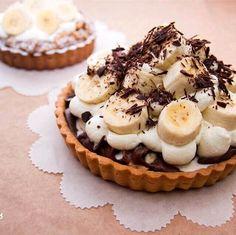 Banana chocolate tart❤️バナナ チョコレート カスタード タルト